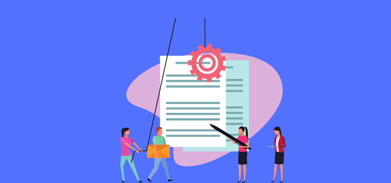 Personer som utarbeider et transkripsjonsdokument