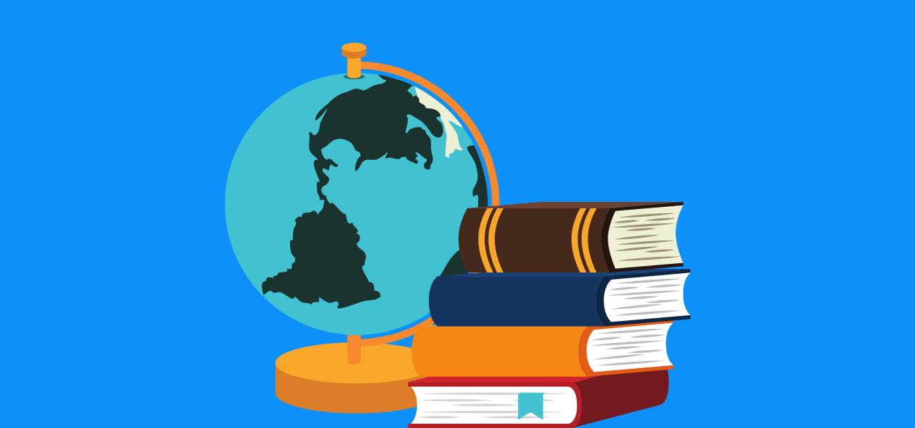 Globus og bøker